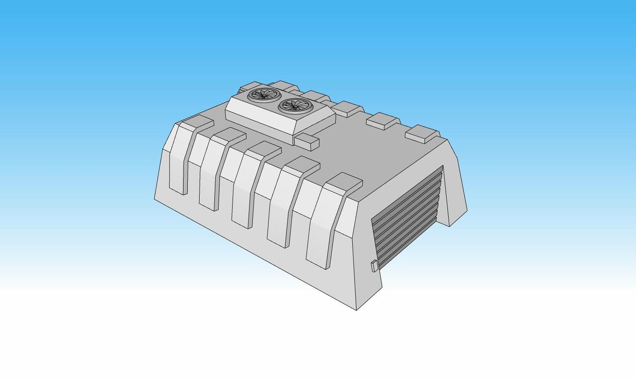 6mm tank Garage Wargaming Terrain Color Illustration