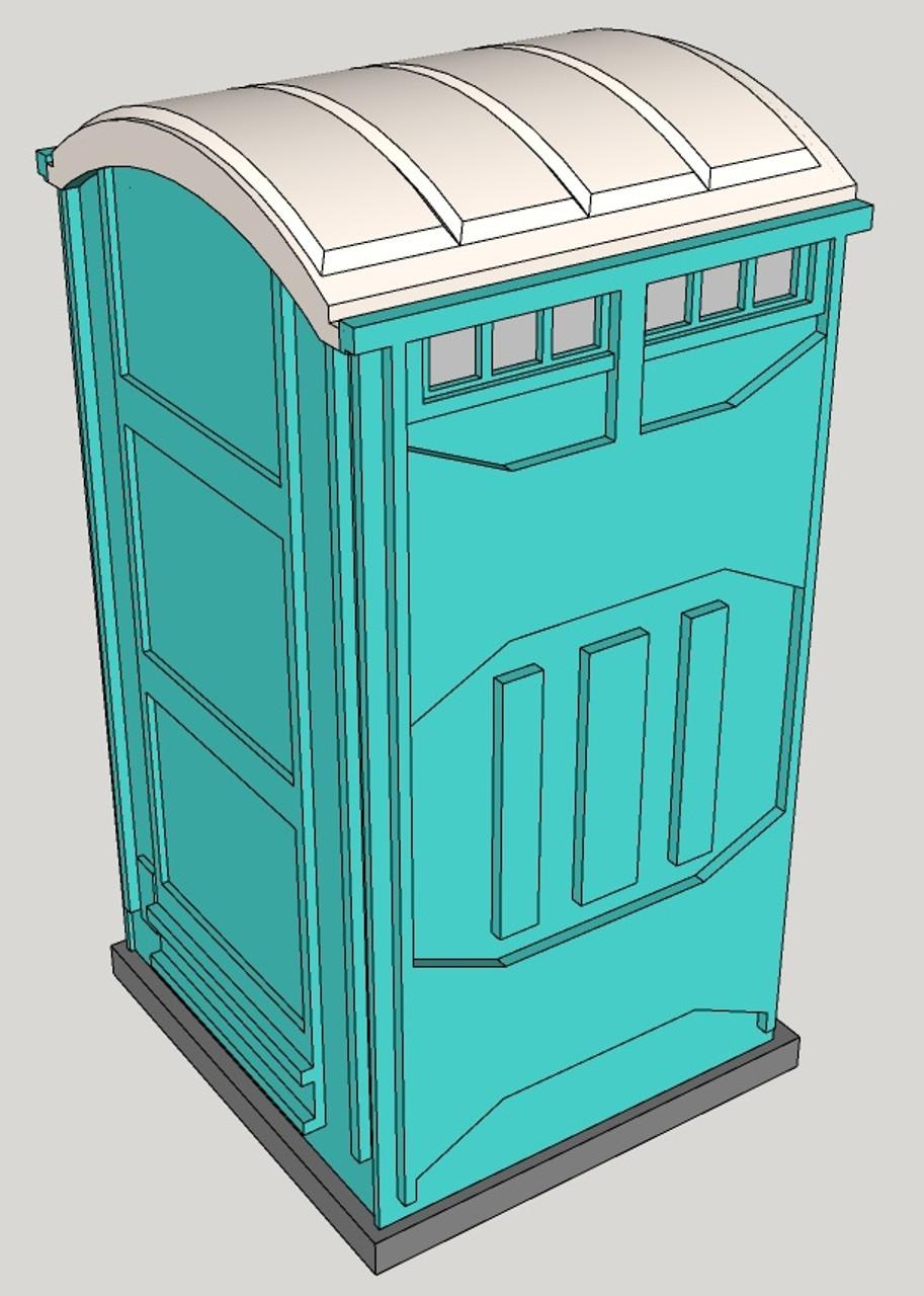 28mm Modern Porta Potty detail view