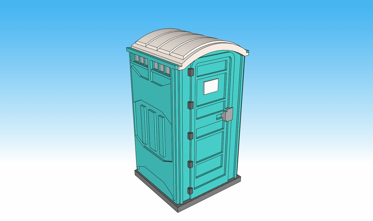 28mm Modern Porta Potty top