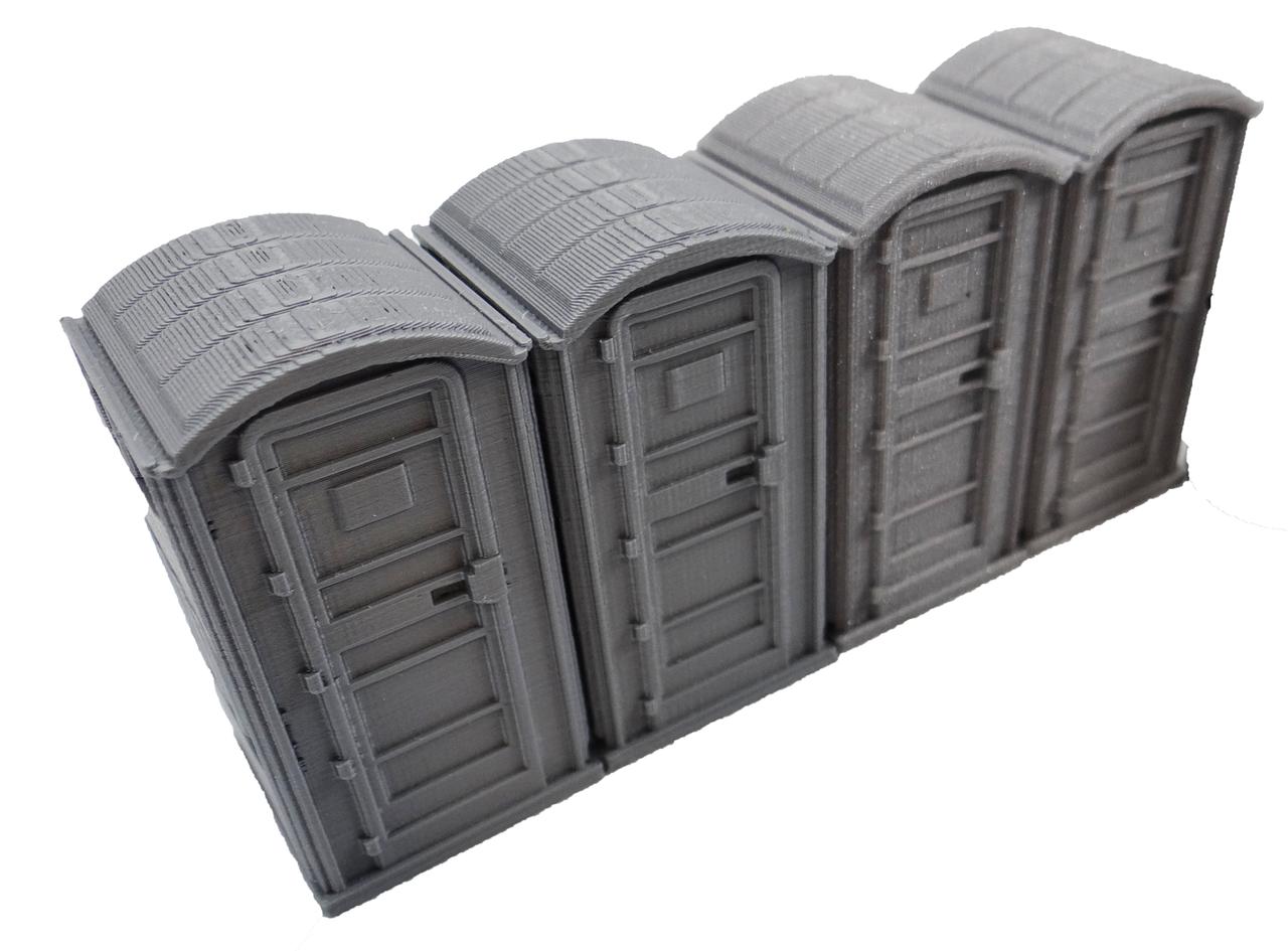 28mm Modern Porta Potty right side view
