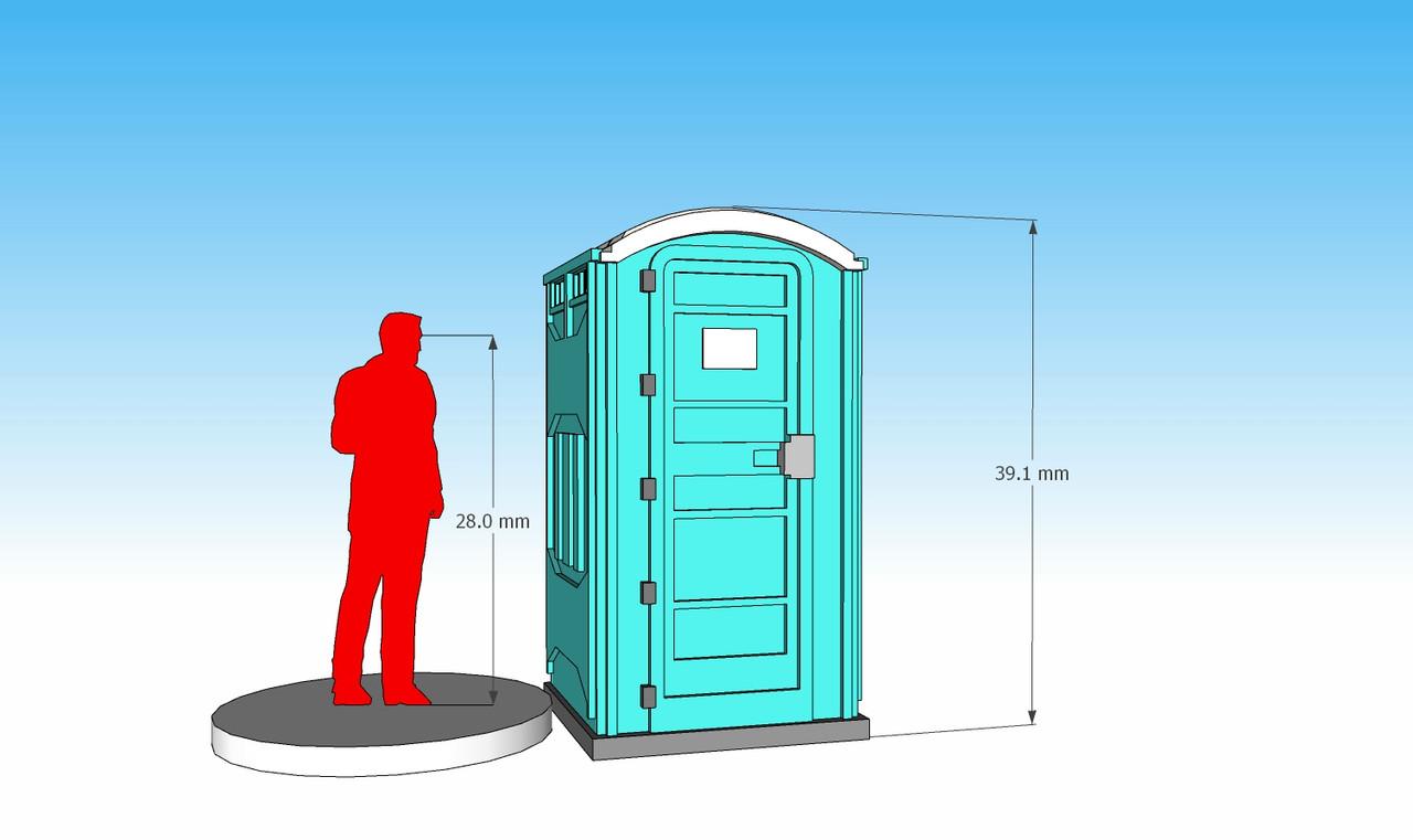 28mm Modern Porta Potty front