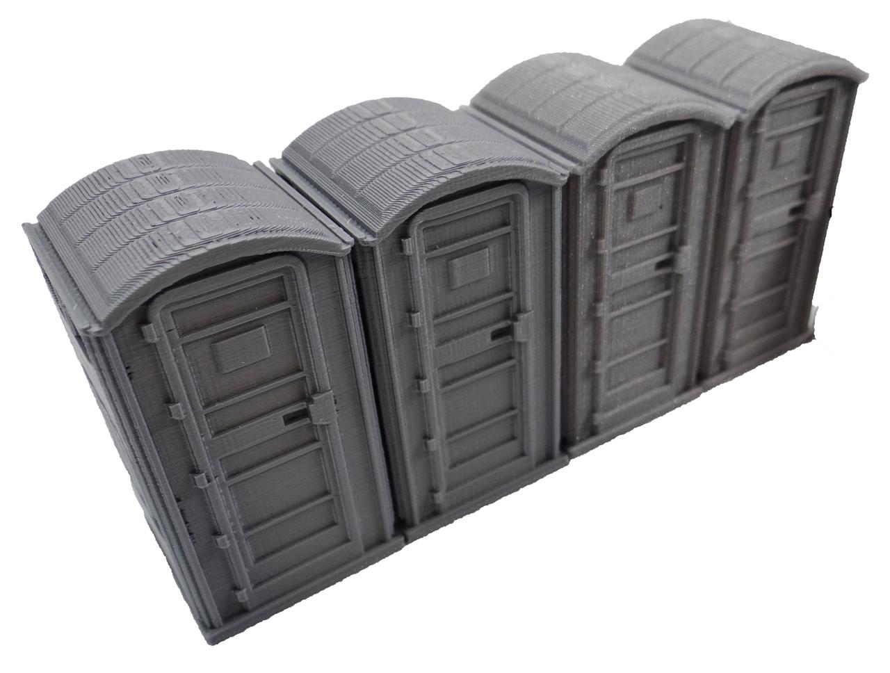 28mm Modern Porta Potty 3ea