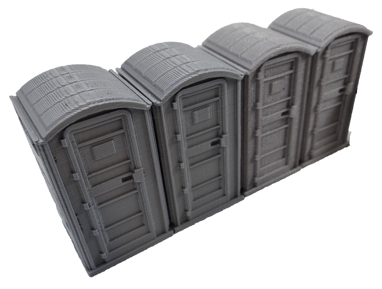 28mm Modern Porta Potty right angle view