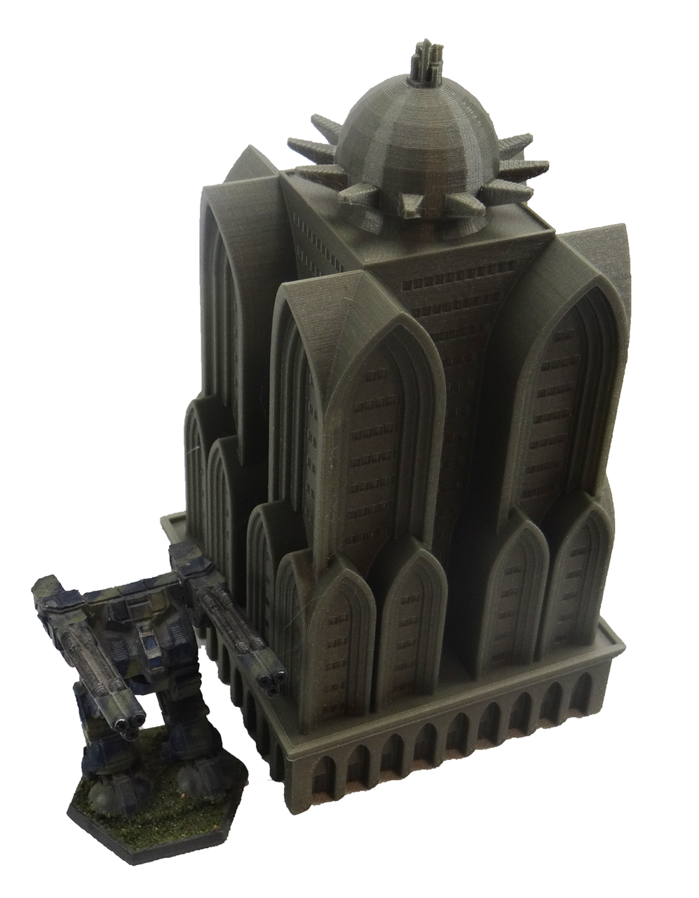 1366 Imperium Barracks with Battletech Mech view