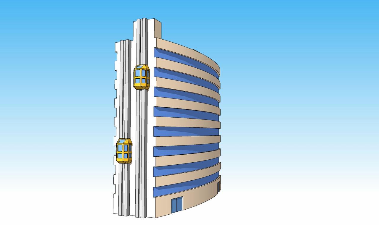 1368 Minsk Tower side view illustration
