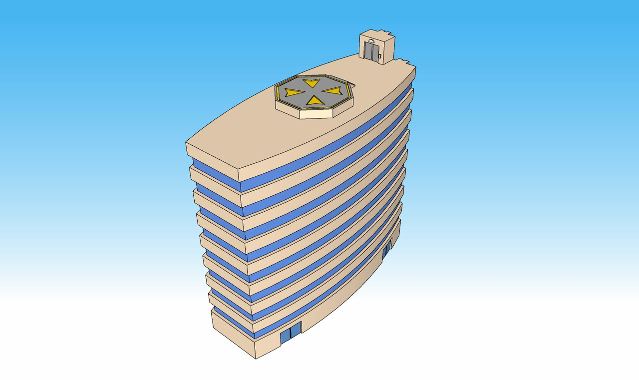 1368 Minsk Tower top view illustration