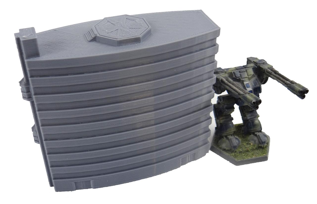 1368 Minsk Tower with Battletech Mech
