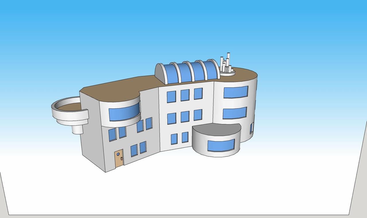 1371 Bio Research Facility right side illustration
