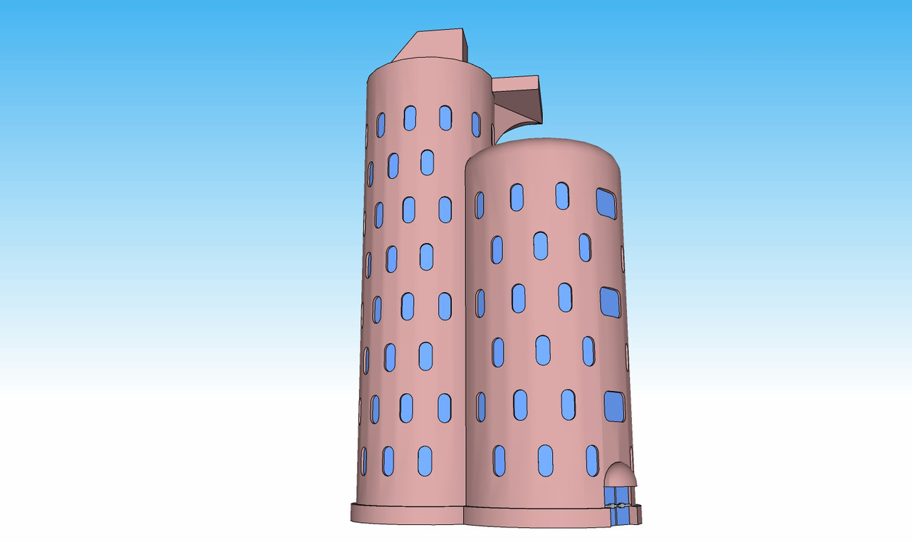 1373 Silo Apartment illustration right side view