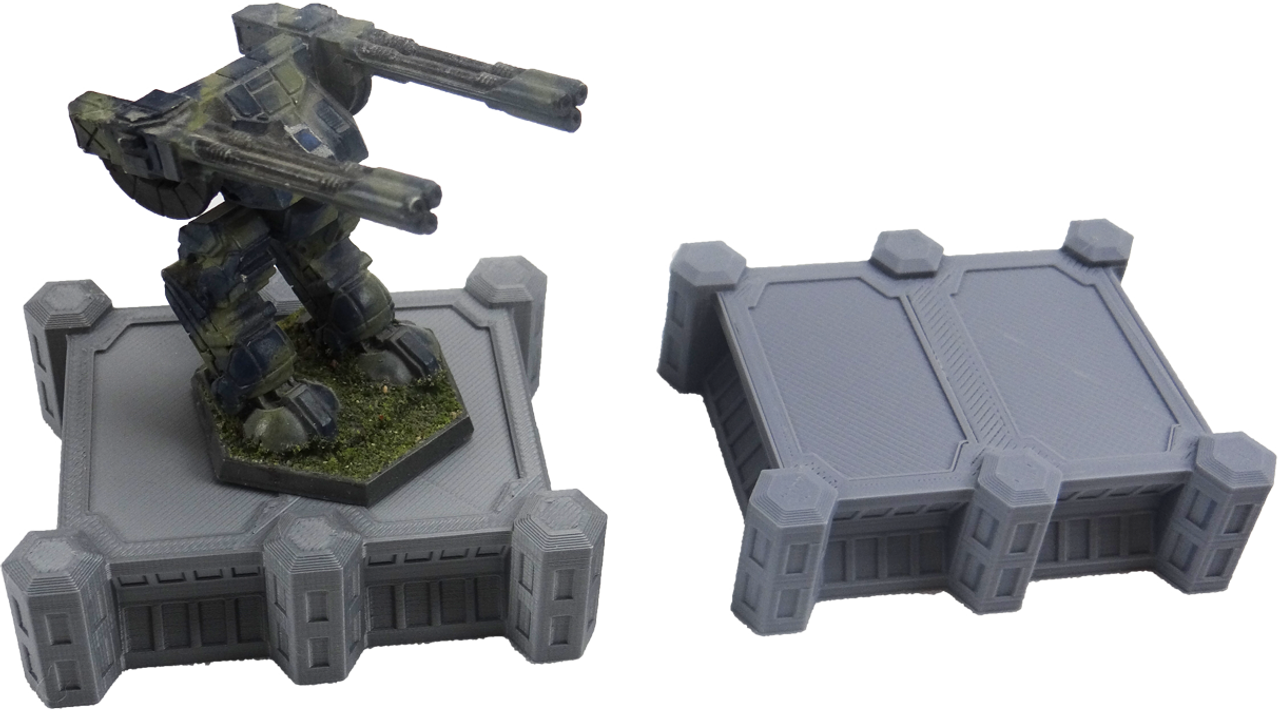 1379 6mm prison shown with a BattleTech Mech