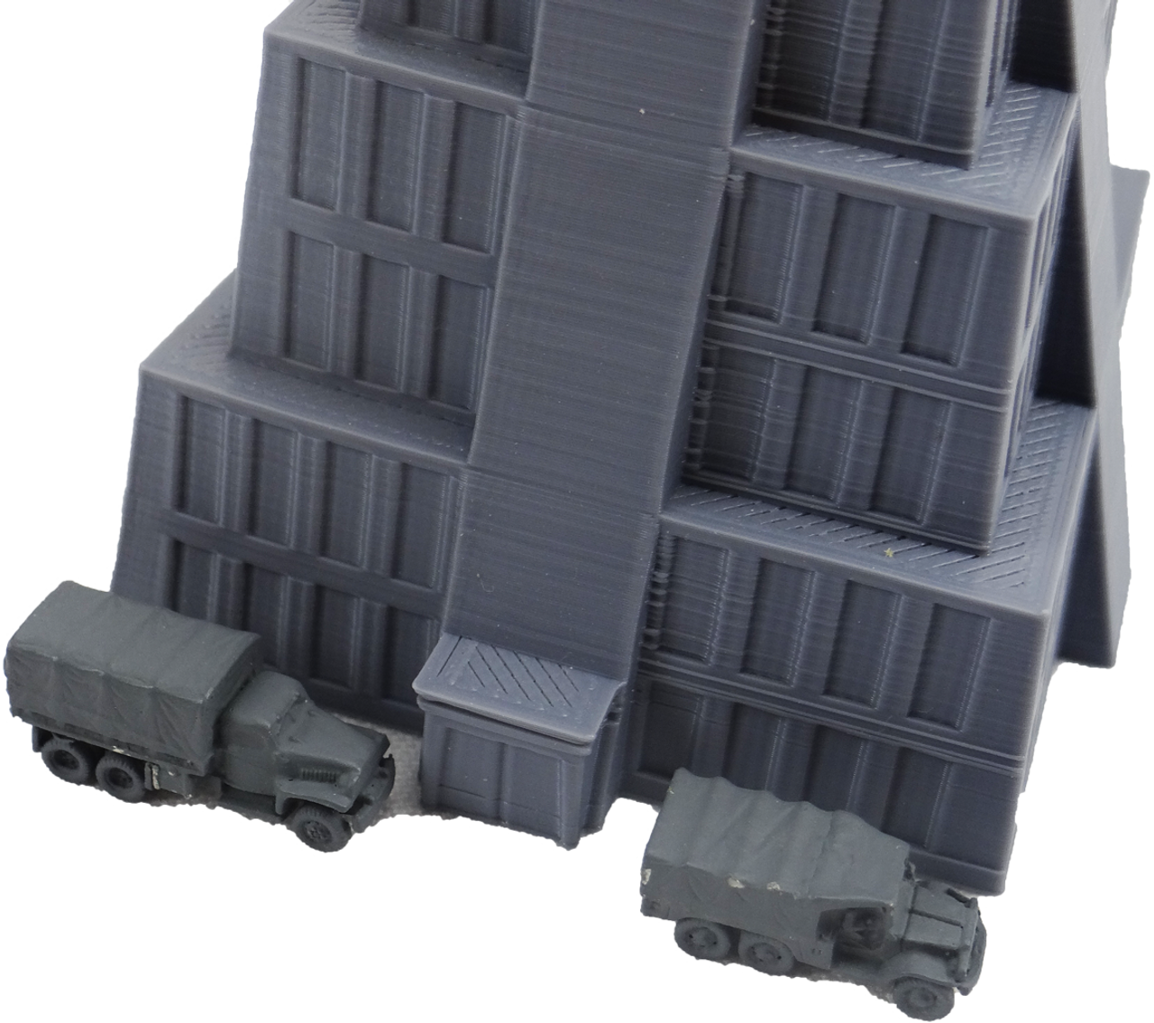 6mm Zigg Building front view with truck