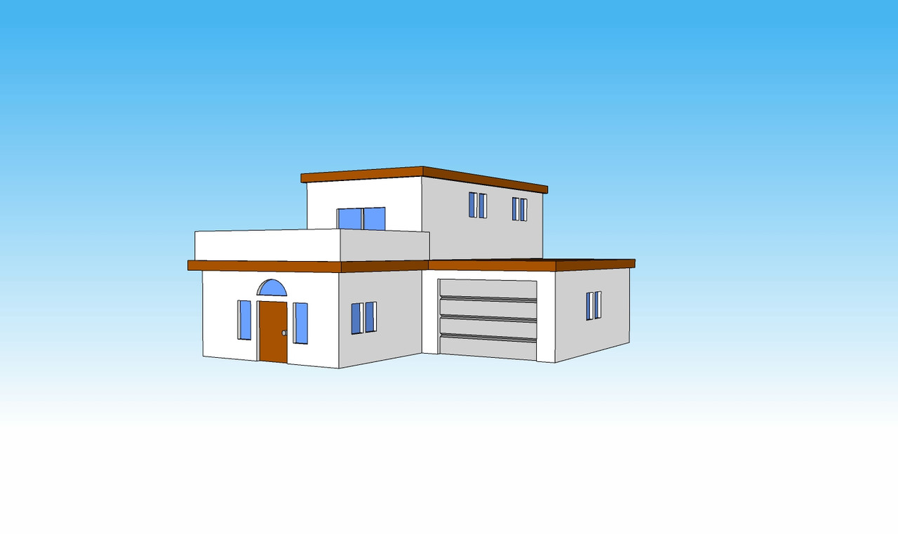 6mm Block House angle view