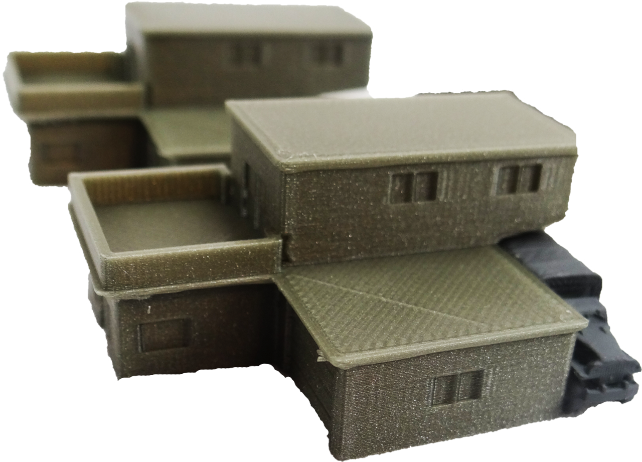 6mm Block House side view with truck