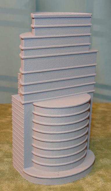 6mm Unpainted Terrain Glass Skyscraper