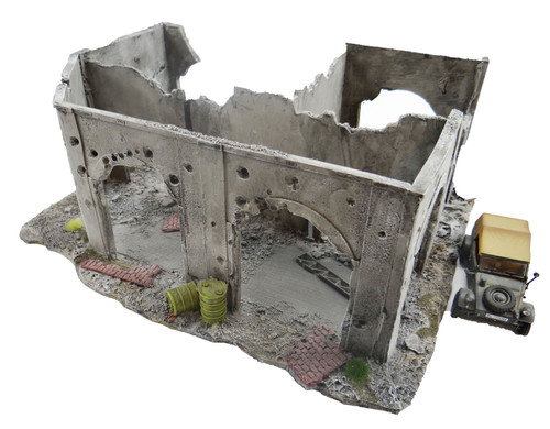 6mm WWII Factory Ruin