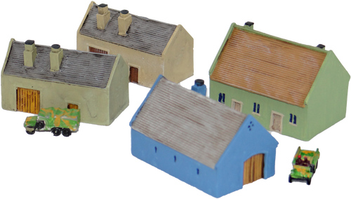 1223-Outbuilding Set 4pc