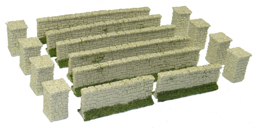 1284-Farm Stone Wall Set 15pc Sandstone Color