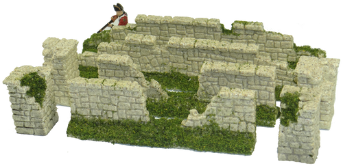 1286-Farm Stone Wall Ruin 8pc Set Sandstone