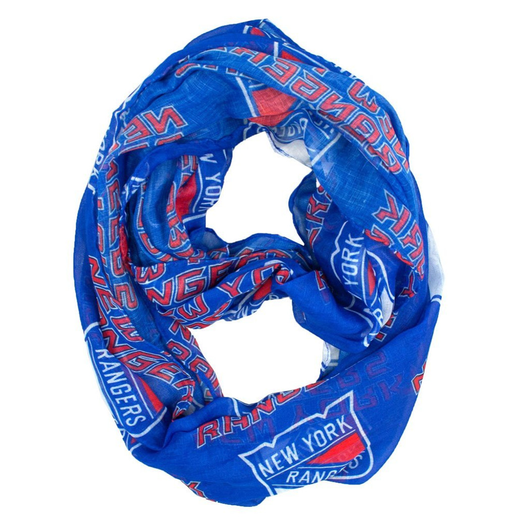 New York Rangers Sheer Infinity Fashion Scarf