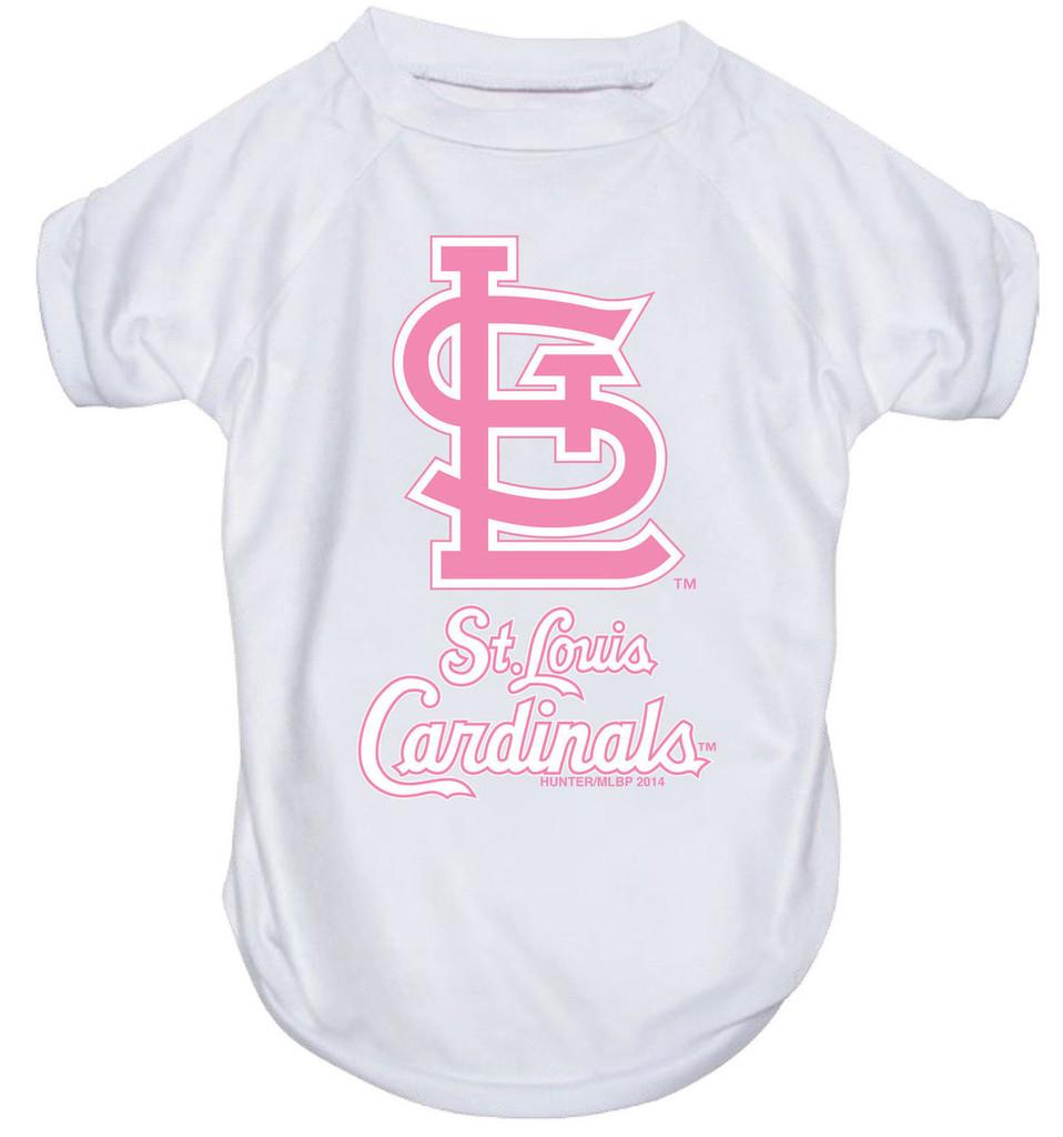 St. Louis Cardinals Dog Pet Pink Performance Tee T-Shirt