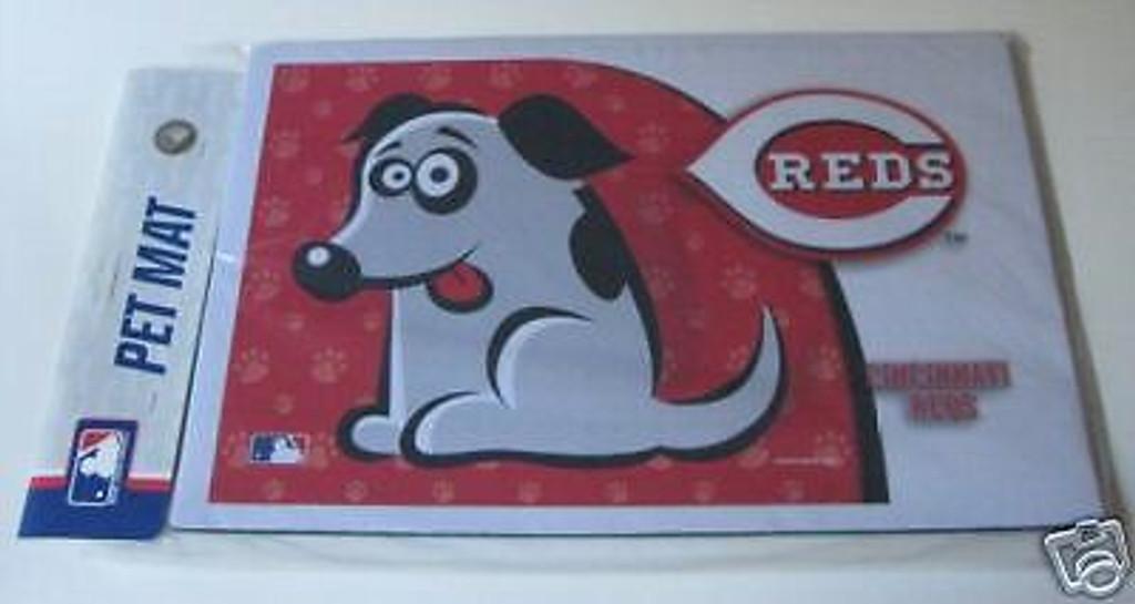 Cincinnati Reds Dog Pet Neoprene Bowl Mat Placemat