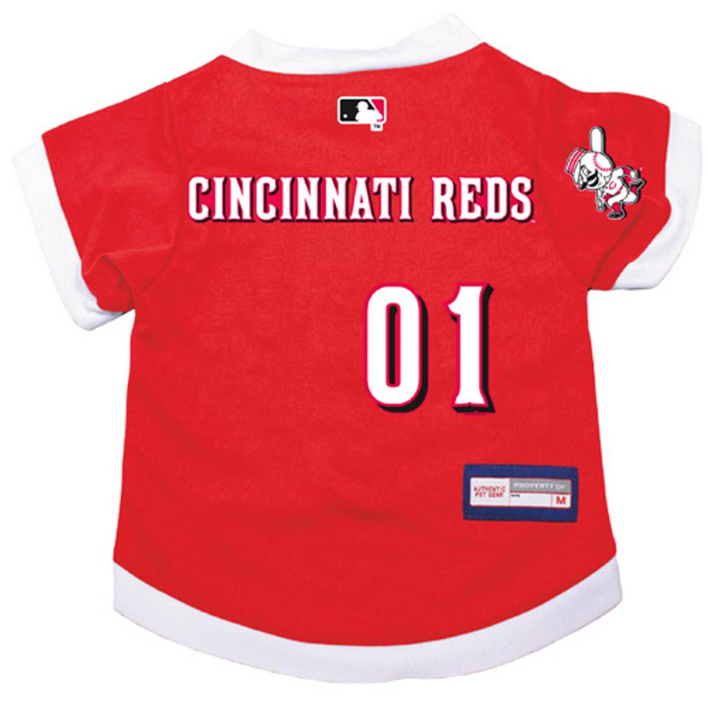 Cincinnati Reds Dog Pet Premium Baseball Jersey