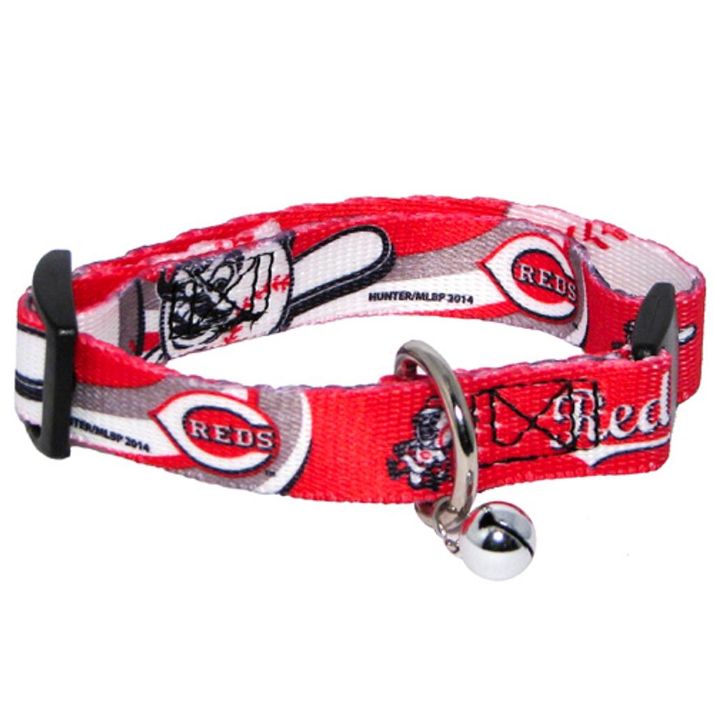 Cincinnati Reds Cat Adjustable Safety Collar w/ Bell