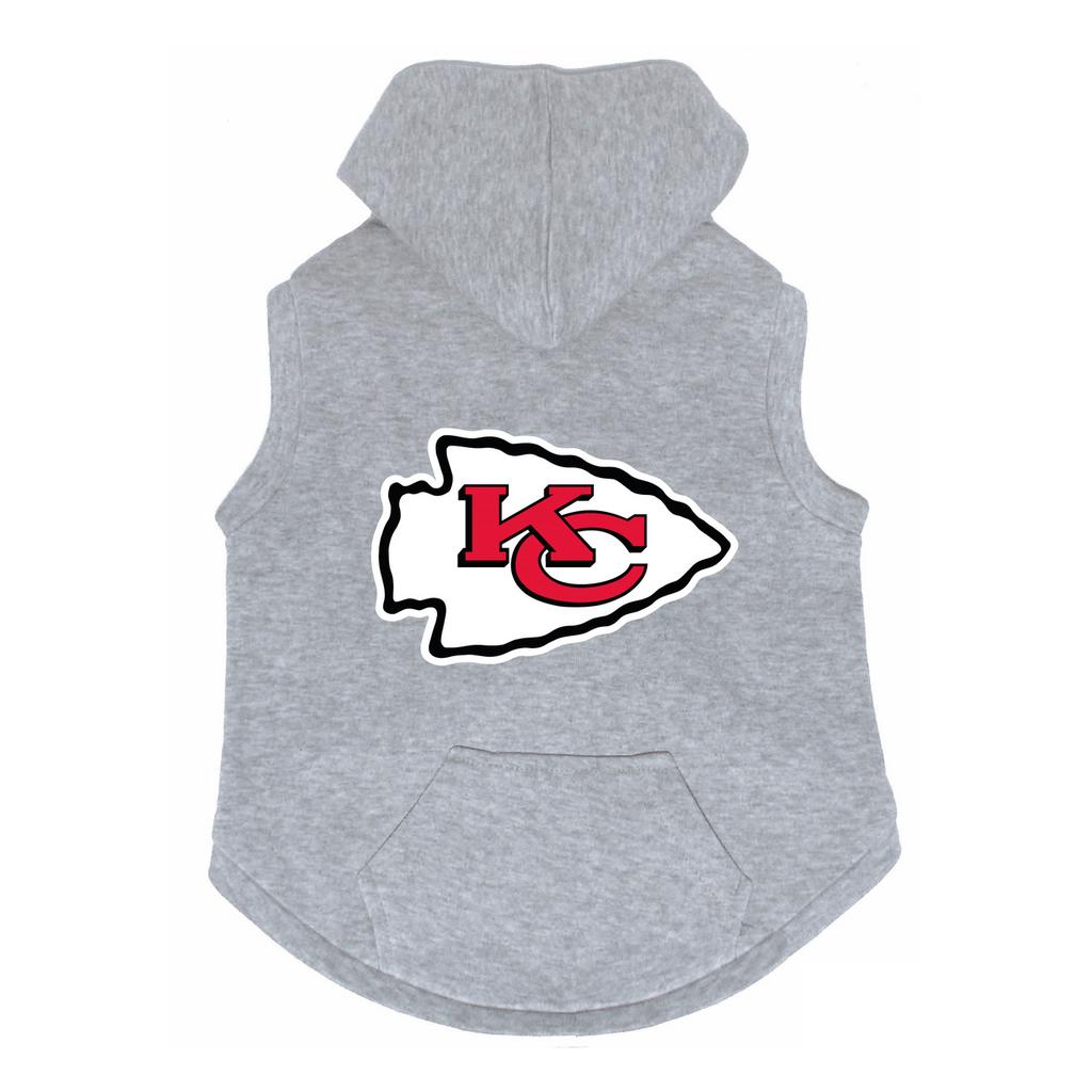 Kansas City Chiefs Dog Pet Premium Button Up Embroidered Hoodie Sweatshirt
