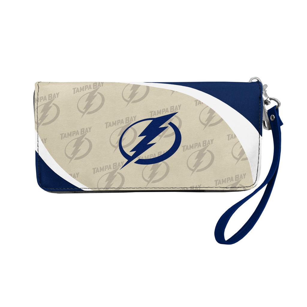 Tampa Bay Lightning Curve Zip Organizer Wallet Wristlet