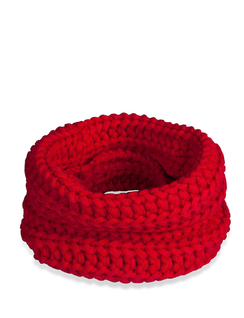 fabdog Dog Cat Knit Infinity Scarf Red