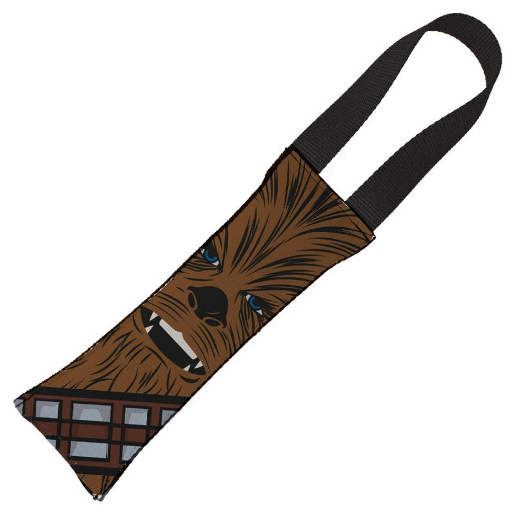 Chewbacca Face Dog Toy Tug Handle w/ Squeaker Star Wars Licensed