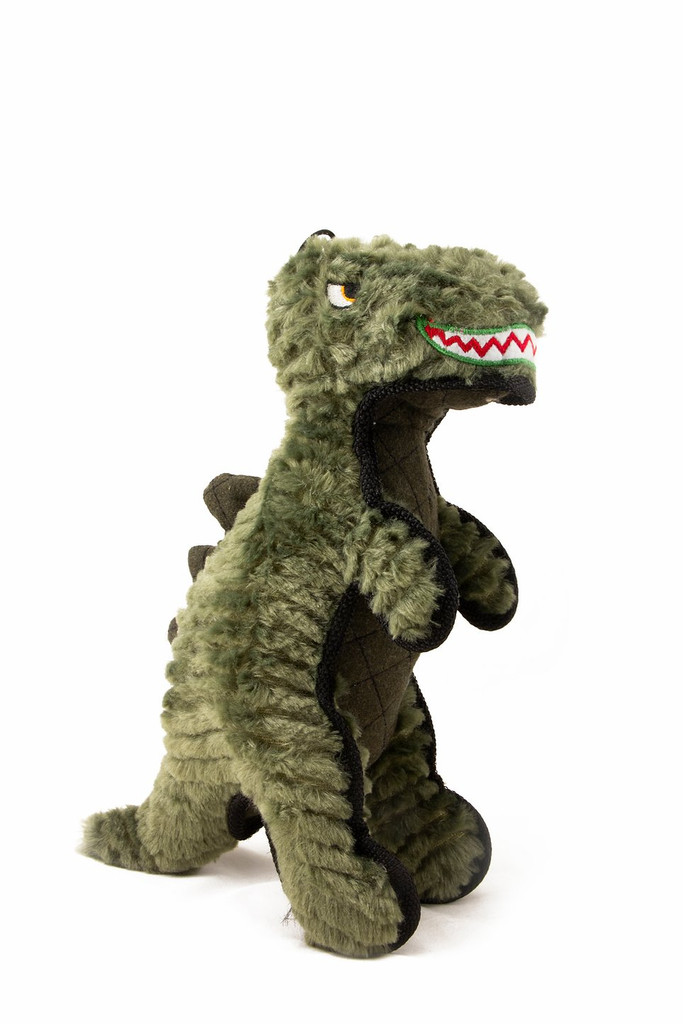 Ruffian T-Rex Dinosaur Dog Toy Premium Tough Plush w/ Tennis Ball