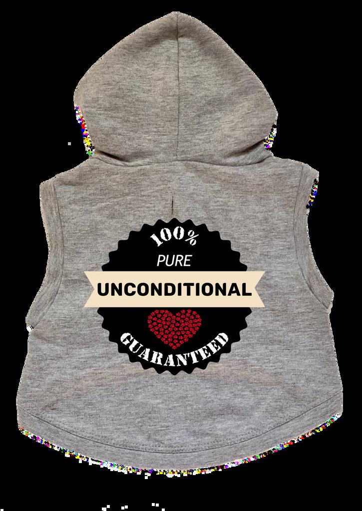 100% Unconditional Love Dog Cat Hoodie Paw Heart Premium Sweatshirt