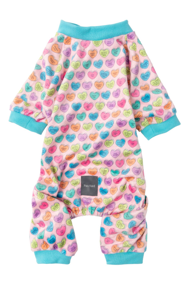 Candy Hearts Dog Cat Premium Pajamas PJs Super Soft Ruff Me True Woof