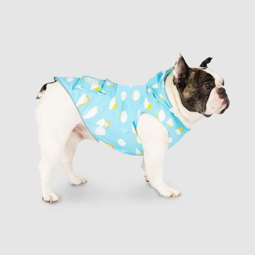 Color Changing Clouds Dog Cat Raincoat Premium Wet Reveal Torrential Tracker