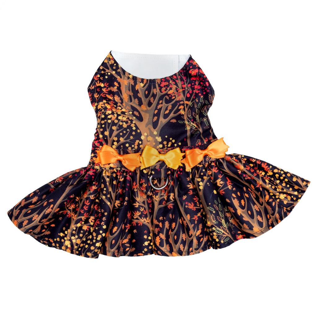 Fall Leaves Pet Dog Dress Harness w/ Matching Leash