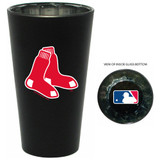 Boston Red Sox Black Mirror Bottoms Up Drinking Glass Boxed Set