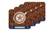 Dallas Cowboys Latteam Coffee Art 4pk Coaster Set Packaged