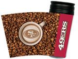 San Francisco 49ers Latteam Coffee Art 16oz Travel Tumbler