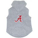 Alabama Crimson Tide Dog Pet Premium Button Up Embroidered Hoodie Sweatshirt