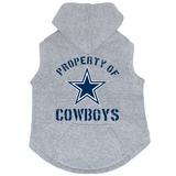Dallas Cowboys Dog Pet Premium Button Up Property Of Hoodie Sweatshirt