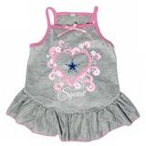Dallas Cowboys Dog Pet Pink Too Cute Squad Jersey Tee Dress
