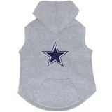 Dallas Cowboys Dog Pet Premium Button Up Embroidered Hoodie Sweatshirt