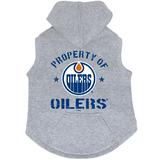 Edmonton Oilers Dog Pet Premium Button Up Property Of Hoodie Sweatshirt