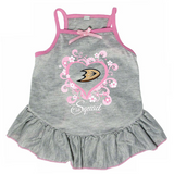 Anaheim Ducks Dog Pet Pink Too Cute Squad Jersey Tee Dress