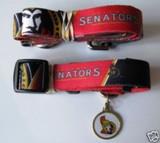 Ottawa Senators Dog 3pc Pet Set Leash Collar ID Tag