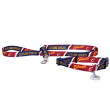 Cleveland Cavaliers Dog 3pc Pet Set Leash Collar ID Tag