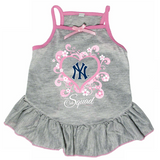 New York Yankees Dog Pet Pink Too Cute Squad Jersey Tee Dress