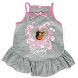 Baltimore Orioles Dog Pet Pink Too Cute Squad Jersey Tee Dress