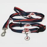 Cleveland Indians Dog 3pc Pet Set Leash Collar ID Tag